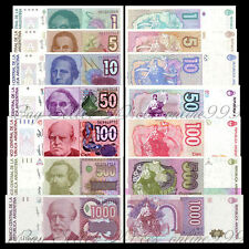 Set of 7Pcs Argentina 1+5+10+50+100+500+1000 Australes Paper Money Uncirculated