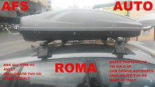 BARRE PORTATUTTO  VW POLO 5P 2010 CON CHIAVE+BOX PORTAPACCHI 400 LT ALLTIME