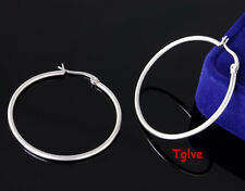 5Pairs Lot 316L Stainless Steel Shing Silver Round Lovery Hoop Earring Stud