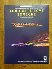 Days of Thunder; You Gotta Love Someone by Elton John Taupin music sheet