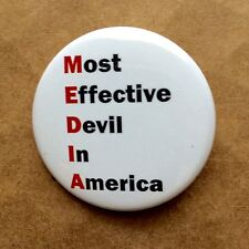 "Media Lies CNN Fox MSNBC Bias Liars Anti Pinback Button - 1.5"" - Free Shipping"