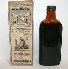 Vintage Cardui Chattanooga Medicine Company Brown Glass Advertising Bottle Old