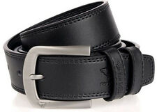 Septwolves Men Belt Real Genuine Leather Pin Lock Buckle Cow Skin Black 2058400
