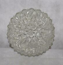 Vintage Clear Pressed Glass Ceiling Fixture Light Cover Hanging Triangle (M