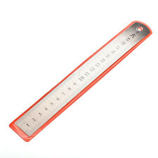 Silver bottom 1PC New Stainless steel 20cm Metal Ruler Metric Rule Precision EV