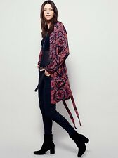 Free People Sensual Printed Paisley Duster Sz XS Robe Jacket 0 2 4