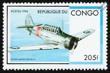 US Navy North American SNJ-2 (Harvard / T-6 Texan) Trainer WWII Aircraft Stamp