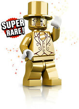 LEGO MR GOLD MINI FIGURE 3130/5000 SERIES 10 COMPLETE NEW SET 71001 SUPER RARE!