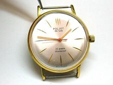 SOVIET POLJOT DE LUXE (LUCH) ULTRA SLIM WATCH GOLD PLATED AU20