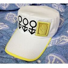 JOJO'S BIZARRE ADVENTURE Kujo Jotaro White Hat Cap Anime Cosplay New