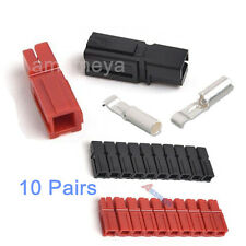10 Pairs 30A Amp Power Electrical Red Black Wire Connector Terminal Plug Housing