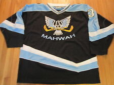 NO EXCUSES HOCKEY EQUIP MAHWAH HIGH SCHOOL N.J. AUTHENTIC HOCKEY JERSEY SIZE XL