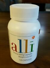 Alli Orlistat Weight Loss 120ct Capsules NEW Factory Sealed Bottle Exp 2018