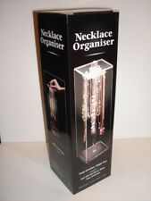 Necklace Storage Box, Clear Jewellery Holder Organiser 33cm x 10x10 NEW & BOXED