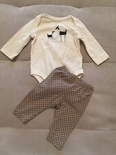 Baby Gymboree Girl Pants Top Outfit Sz 3-6 Month Ivory Tan I Love Mummy Deer