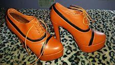 Sergio Todzi ankle boots orange high platform heels size 4 ( eu 37)