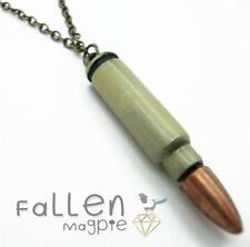 "18"" Bronze Plated Bullet Necklace Kitsch"