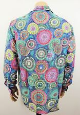 Mens Vtg 70s Style Funky Party Hippie Crazy Prince Retro Fancy Festival Shirt