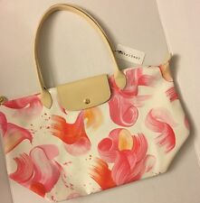 Longchamp LE Pliage Splash Large Shoulder Travel Tote Purse Handbag NWT Coral