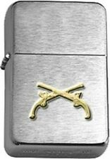 US Army Military Police (MP) Crossed Pistols Brushed Chrome  Lighter