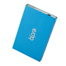 Bipra 40GB 2.5 inch USB 2.0 FAT32 Portable Slim External Hard Drive - Blue