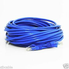 Cat6 50ft Patch Cord Blue Cable 500mhz Ethernet Internet Network LAN RJ45 UTP US