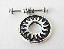 TierraCast Antiqued Silver Ox Toggle Clasp Bar and Ring Del Sol Sun Finding