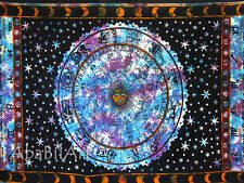 Multi Color Zodiac Horoscope Mandalas Psychedelic Wall Hangings Throw Ethnic Art