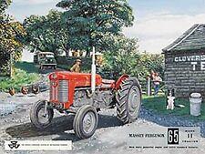 "Tracteur ""The Massey Ferguson 65"" Signe de Métal (og 2015)"