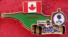 PIN'S F1 FORMULA ONE CHRONO GRAND PRIX CANADA WILLIAMS RENAULT ZAMAC 2D N°TE