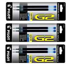 Pilot Refill for G2 Gel Pen Extra Fine Blue 2 count (Pack of 3) New
