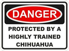Dog Breed CHIHUAHUA Danger Sticker Pet for Bumper Locker Car Door Locker Home