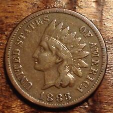 1883 Indian head penny antique cent rare USA coin POST CIVIL WAR RELIC #743D