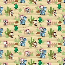 "Disney Sheriff Callie Western Scene 100% cotton 43"" Fabric by the yard"