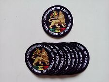 "10 RASTA Conquering Lion Embroidered Patches 3"" Dia.-"
