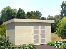 Gartenhaus 28 mm Lara 2 350x250 cm Gerätehaus Blockhaus Holzhaus Schuppen Holz