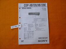 Manual de servicio Sony CDP xb720 xb720e English instrucciones de servicio