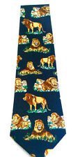 NEW Lions King of the Jungle Animals Novelty Neck Tie Necktie Sleeved A. Rogers