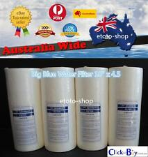 """4 X Big Blue Sediment Replacement Water Filters (5 Micron) 4.5"""" x 10"""" Cartridges"""