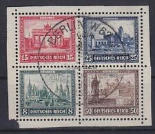 DR Mi Nr. 446 - 449 Herzstück Block 1 IPOSTA TOP rund SST Berlin 1930, Dt. Reich