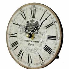 DISTRESSED VINTAGE TABLE/DESK CLOCK LOVELY ANTIQUE STYLE HOME DECOR GIFT 13cm