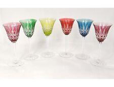 6 verres à vin Rhin Roemers cristal Saint-Louis couleur modèle Tarn XXème