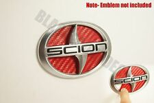 (04-2010) Scion TC RED Carbon Fiber Rear Trunk Inlay Emblem Decal vinyl smoked