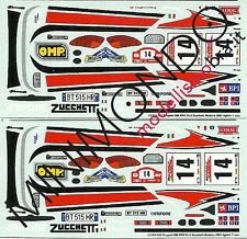 DECALS PEUGEOT 206 WRC EV.2 WINNER RALLY MADEIRA 2002 AGHINI 1/43 RACING43