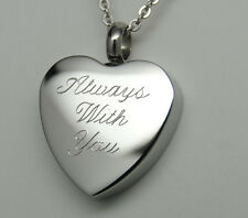 ALWAYS WITH YOU CREMATION URN NECKLACE HEART CREMATION JEWELRY MEMORIAL KEEPSAKE