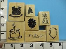 Stampin up sketch a party birthday set of 7 rubber stamp 2R