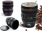 BLACK CAMERA LENS CUP COFFEE MUG MULTI PURPOSE ASHTRAY PEN HOLDER GIFT PRESENT