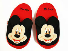 Mickey Mouse Red&Black Slippers NWT US 5-9 (UK 3-7)