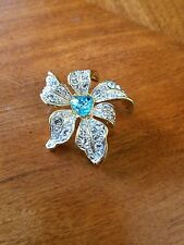 Nolan Miller Gold Toned with rhinestones Flower Pendant
