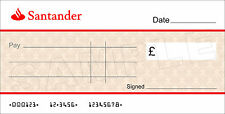 Large SANTANDER BANK Cheque